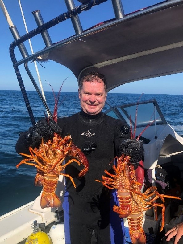 Dave with crays